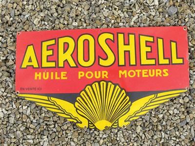 Lot 28-Aeroshell Continental Enamel Advertising Sign