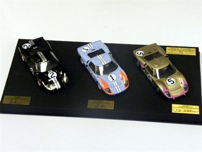 Lot 51-Ford GT40 History at Le Mans Model Display