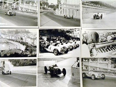 Lot 14-Important Collection of 'Silver Arrows at Monaco' Press Photographs
