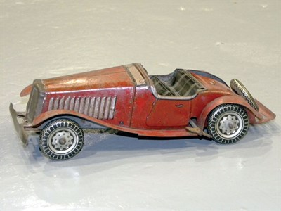 Lot 54-Mettoy Sports Car Wind-up Toy Car