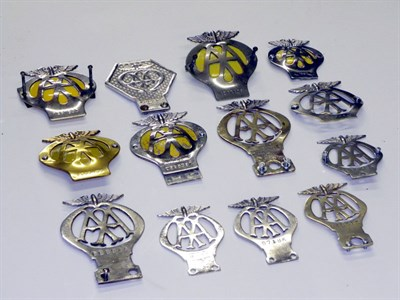 Lot 65-Collection of AA Badges