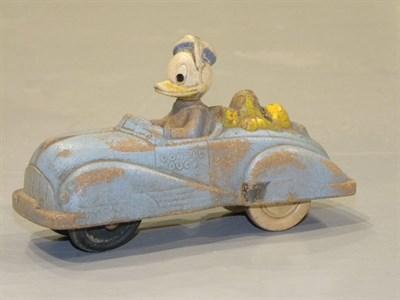 Lot 55-1950's Rubber Disney Toy Car