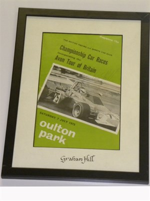 Lot 16-Graham Hill Signed Programme Cover