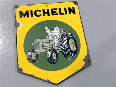 Lot 37-Michelin Tractor Tyres Pictorial Enamel Sign
