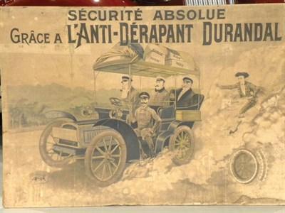 Lot 17-Durandal Tyres Edwardian Showcard