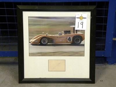 Lot 19-Bruce McLaren Signed Presentation