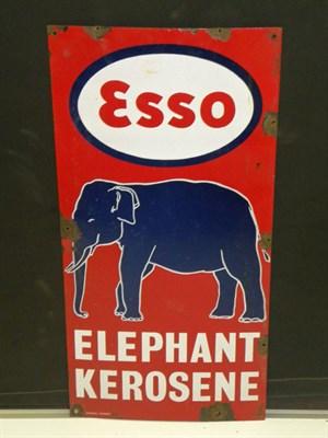 Lot 41-Esso Elephant Kerosene Pictorial Enamel Sign