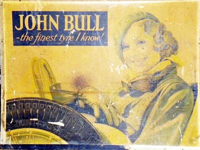 Lot 22-John Bull Tyres Showcard