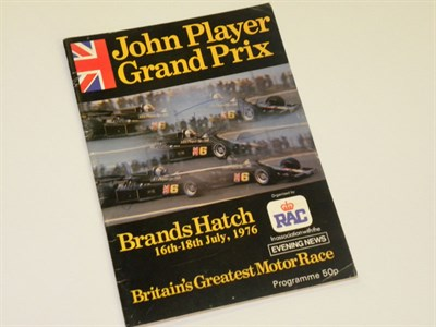 Lot 9-Signed 1976 Brands Hatch GP Programme