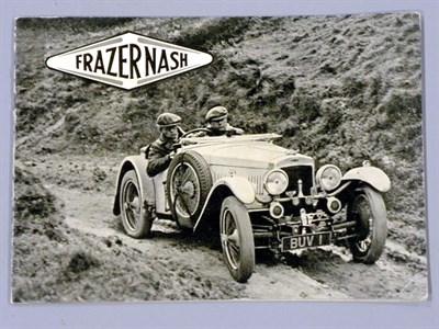 Lot 3-Frazer-Nash Range Brochure 1936/37