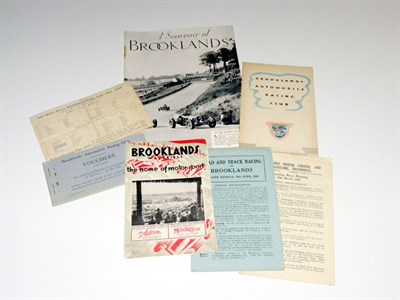 Lot 11-Important Collection of Brooklands Paperwork