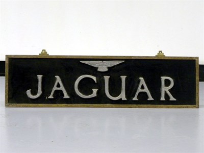 Lot 46-c.1950s Jaguar Hanging Sign