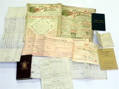 Lot 4-Important Early Motorcar Paperwork