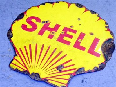 Lot 47-Shell Enamel Advertising Sign