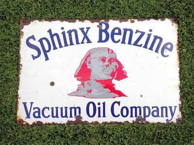 Lot 48-Sphinx Benzine Enamel Advertising Sign