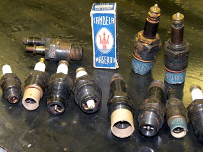Lot 50-Quantity of Early Maserati Sparking Plugs