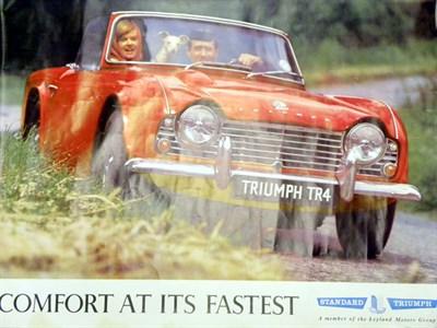 Lot 26-Triumph TR4 Showroom Poster