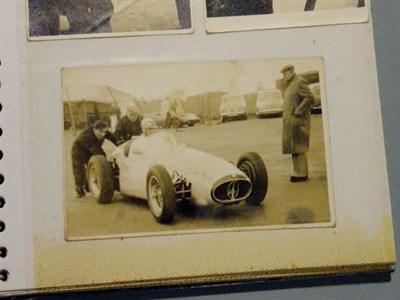 Lot 115-Album of 1950's Motor Racing Photographs