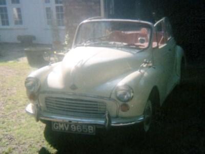 Lot 19 - 1964 Morris Minor Convertible