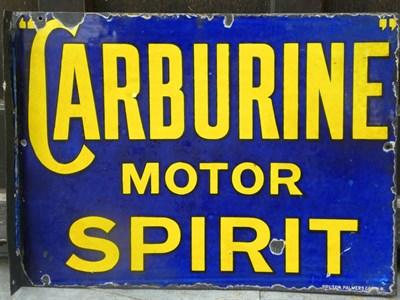 Lot 1-'Carburine' Enamel Sign