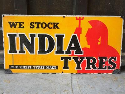 Lot 2-'India Tyres' Enamel Sign