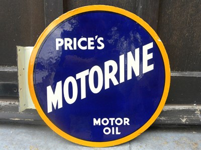 Lot 5 - 'Price's Motorine' Motor Oil Enamel Sign