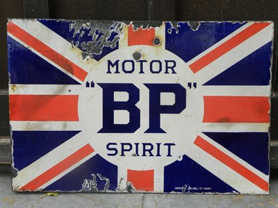 Lot 10 - BP 'Motor Spirit' Enamel Sign