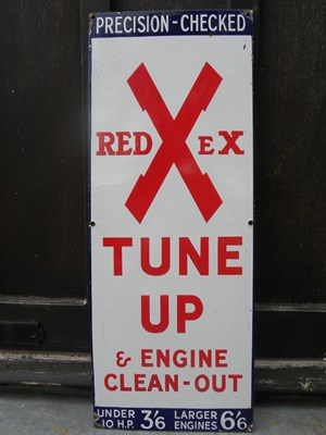 Lot 16 - Redex Engine Tune Up Enamel Sign