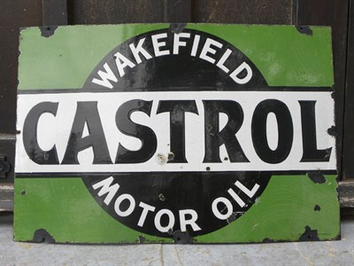 Lot 17 - 'Wakefield Castrol Motor Oil' Enamel Sign