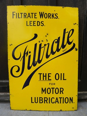 Lot 18 - 'Filtrate' Enamel Sign