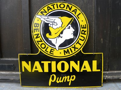 Lot 20 - National Benzole Mixture Enamel Sign