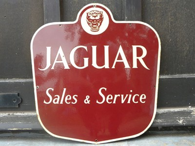 Lot 24 - Jaguar Sales & Service Enamel Sign
