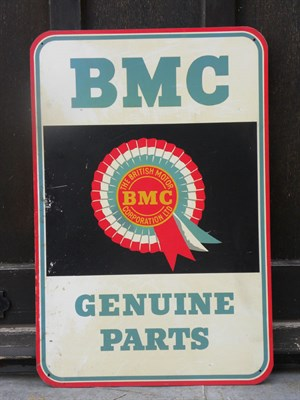Lot 25 - BMC 'Genuine Parts' Tin Advertising Sign