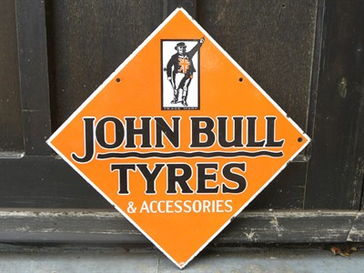 Lot 28 - John Bull Tyres Enamel Sign