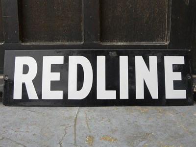 Lot 31 - Redline Enamel Sign