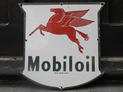 Lot 32 - Mobiloil Enamel Sign