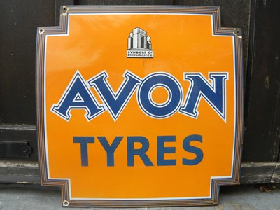 Lot 34 - Avon Tyres Enamel Sign