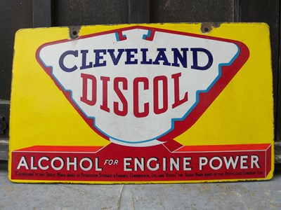 Lot 36 - Cleveland Discol Enamel Sign
