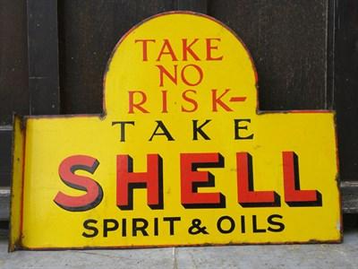 Lot 38-Shell 'Spirit & Oils' Enamel Sign