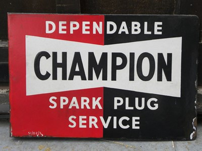 Lot 39 - Two Champion Signs