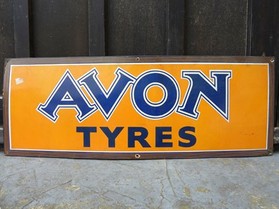Lot 41 - Avon Tyres Enamel Sign