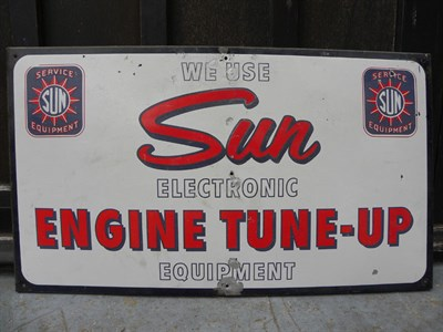 Lot 42 - 'Sun Service Equipment' Enamel Sign