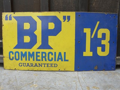 Lot 43 - BP 'Commercial' Enamel Sign