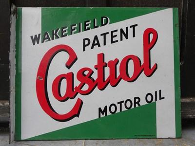 Lot 44-Wakefield Castrol Enamel Sign