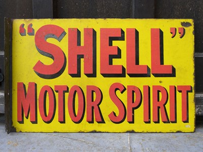 Lot 45 - Shell 'Motor Spirit' Enamel Sign