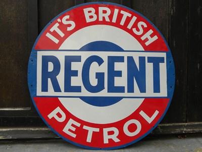 Lot 49-Regent Petrol Enamel Sign