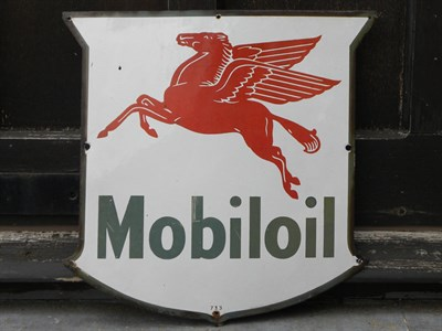 Lot 51 - Mobiloil Enamel Sign