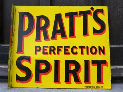 Lot 54 - Pratt's Perfection Spirit Enamel Sign