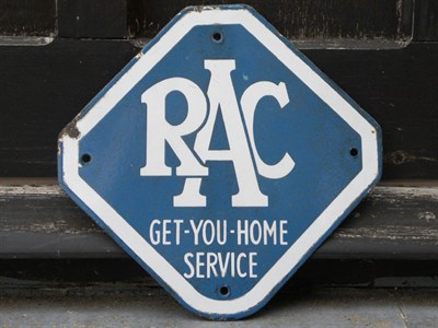 Lot 55 - RAC Enamel Plaque