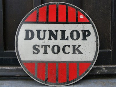 Lot 57 - Dunlop Stock Advertising Sign